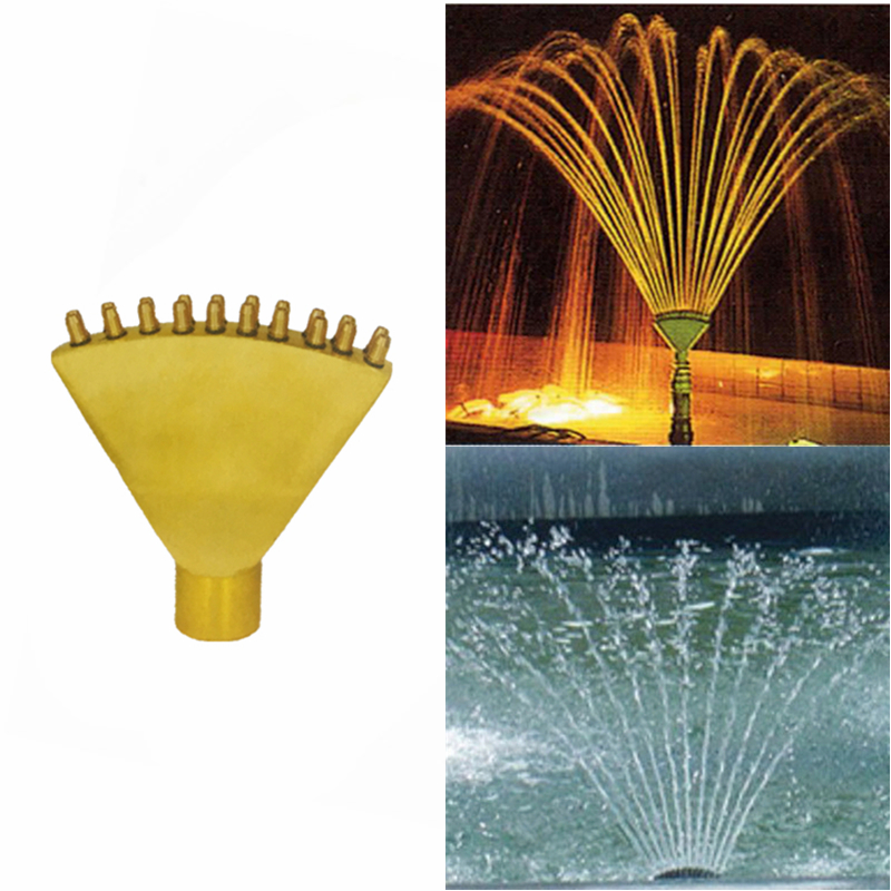 1 2 DN15 3 4 DN20 Spring Bubbling Brass Fountain Nozzles Garden Fountain Pond