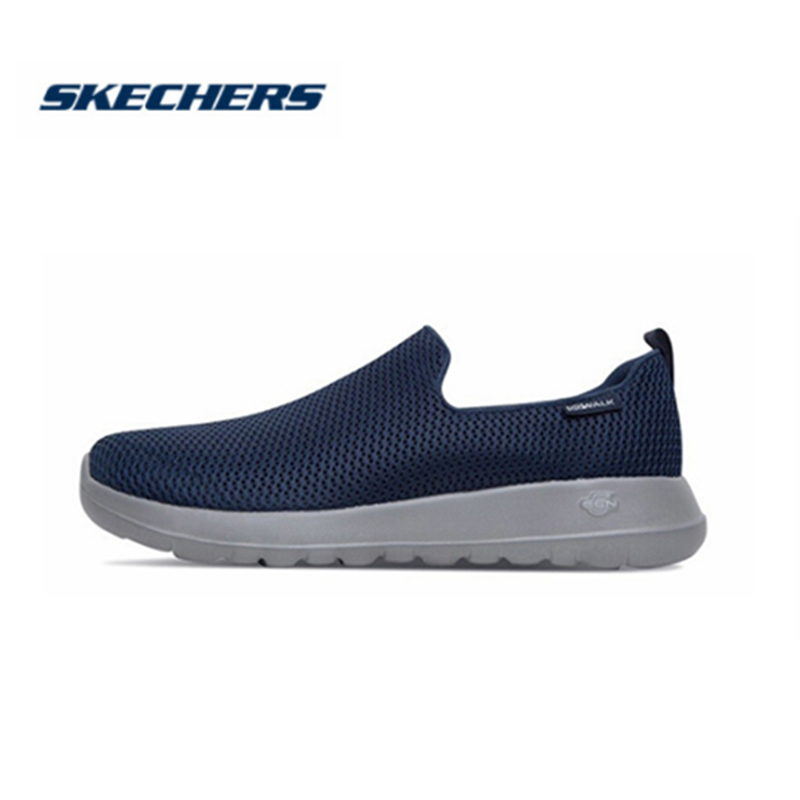 Skechers Shoes Men Casual Go Walk Max Comfortable Breathable Shoes Casual Shoes Soft Moccasins Men Loafers  54600-BKW