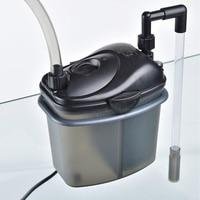 220V Silent Aquarium External Filter 200L/H Fish Tank Filter Canister With Filter Media Suit For Aquarium Tank 50cm
