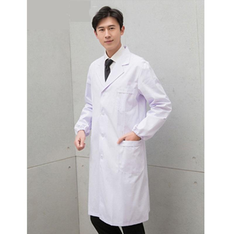 Hospital Doctor White Men Lab Coat,Medical Staff Uniforms Doctor's Uniform Chemistry Coat Retail Wholesale