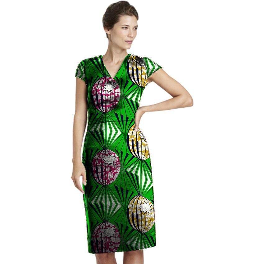 Femmes Africaines Imprimer Robe Nouveau Design Africain Festive Imprimé Robes Dames Partie Costume Fait Sur Commande Dashiki Femmes Vêtements