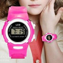 Цифровые часы для девочек, Детские аналоговые цифровые спортивные водонепроницаемые наручные часы для девочек, светодиодный электронные часы, новинка Relogios Digitais