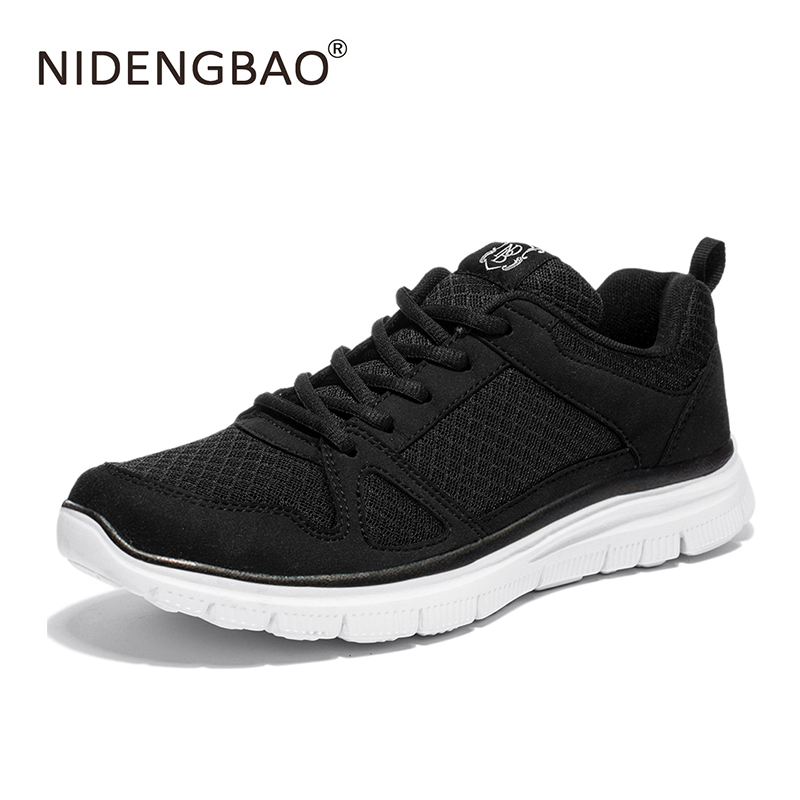 NIDENGBAO Running Shoes Sneakers Plug Size For Men Mesh Breathable Super Lightweight Sneakers Footwear Outdoor Athletic Shoes