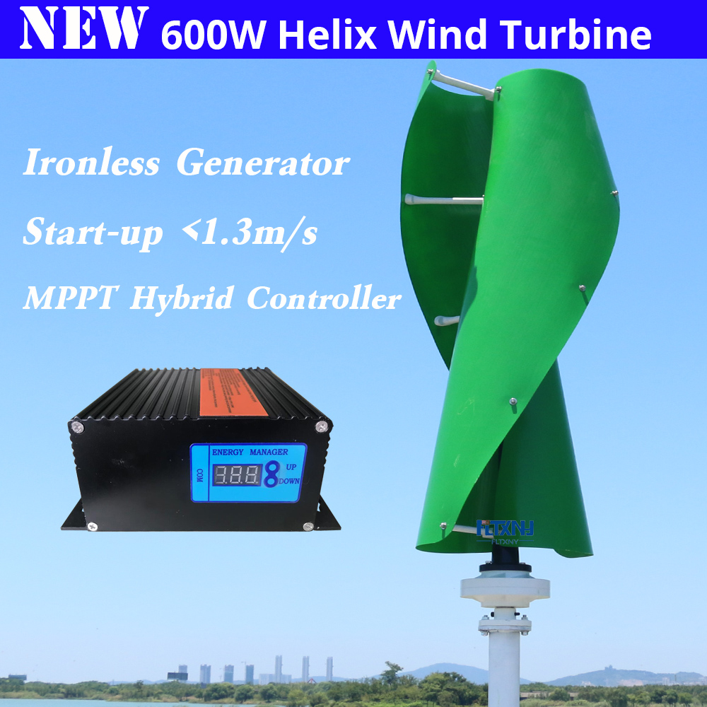hot !! maglev wind generator 600w 12/24v vertical axis wind turbine with 600w 12v/24v AUTO wind solar hybrid controller for home hot sale saipwell sx sxn wind solar hybrid street light controller with nightlight function 12 24v 40a type sx40