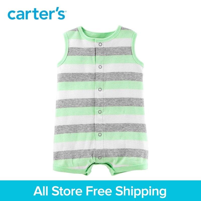 1-Pièce de Carter bébé enfants enfants vêtements Garçon D'été Néon Requin Snap-Up Barboteuse 118I285