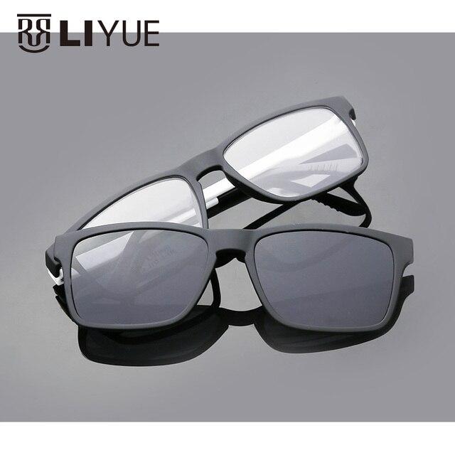 Мода оптических Поляризованных Солнцезащитных Очков Multifuctional магнит очки мужские зеркало водитель солнцезащитные очки Prescrioption солнцезащитные очки 7016