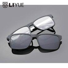 2017 Brand designer Polarized Magnet Clip glasses men women magnet frame Myopia Glasses Prescrioption Optical sunglasses 7016