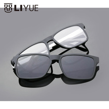 2017 Brand designer Polarized Magnet Clip glasses men women magnet frame Myopia Glasses Prescrioption Optical sunglasses 7016