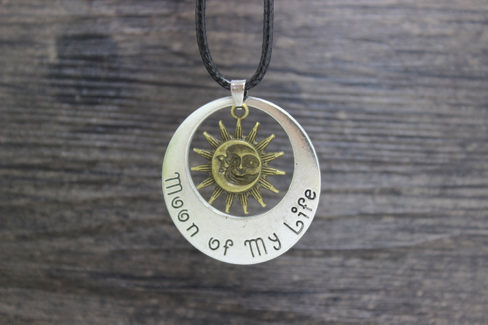 Hot sale 20pcs/lot A Song of Ice and Fire The game of throne Moon Of My Life My Sun And Stars Pendant Necklace