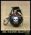 Cool Skull Bomba Granada Llavero de Metal Pistola Arma Modelo de Recogida de Juguetes Llavero Granada de Joyería de Los Hombres Regalo Del Muchacho 2016 de La Venta Caliente 5 cm