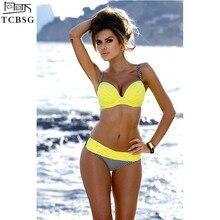 TCBSG 2019 Newest Push Up Bikinis Swimwear Women Swimsuit Bikini Female Beach Wear Set Bathing Suit Swimwear Female Biquini XXL