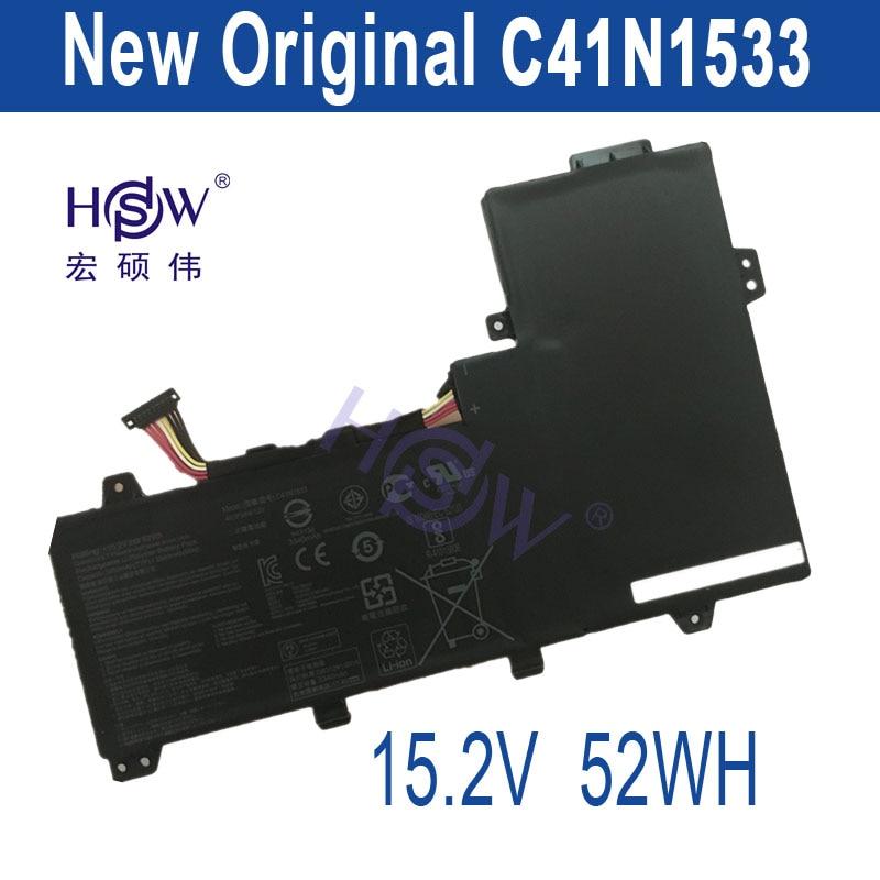 HSW New 15.2V 52Wh   C41N1533 Battery for Asus hsw brand new 96wh 11 4v c32n1415 li ion laptop battery for asus zenbook pro n501vw ux501jw ux501lw
