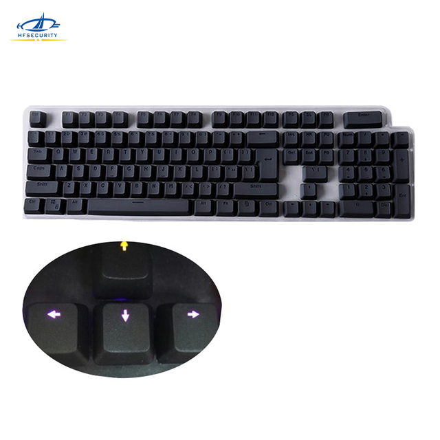 [HFSECURITY] 104 Key PBT Mechanical Keyboard Cover Colorful Backlit Keycaps for Cherry MX Switches Gaming Mechanical Keyboard