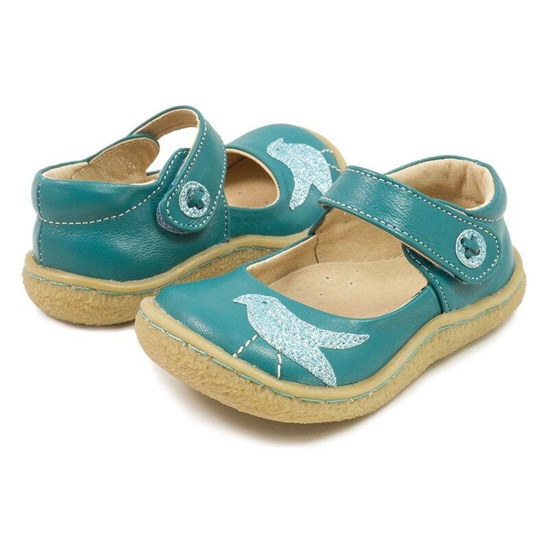 TipsieToes superior calidad de marca de cuero genuino niños niño niña niños zapatos de moda pies descalzos zapatillas Mary Jane envío gratis - 6