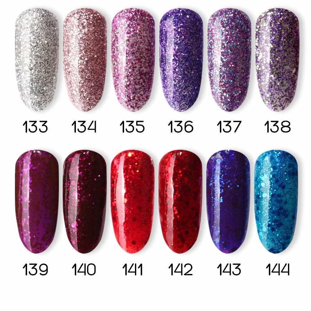 1 pièce de vernis à ongles en Gel de couleur scintillant scintillant  Collection hiver 10ml de vernis à ongles LED UV