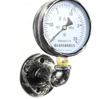 2 unids/lote Vintage brida Base tubo manómetro gancho estilo Industrial ropa bolsa colgador Loft