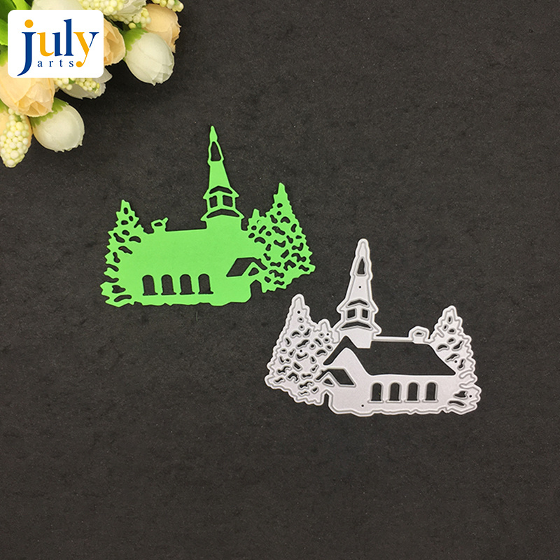 Julyarts Metal Cutting Dies Scrapbooking House Shape Carbon Steel Material Craft Creative Stamps Paper