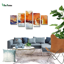 5 Pieces Panel Painting Print Modern Decorative Canvas Ink Construction  Modular Pictures Large Wall