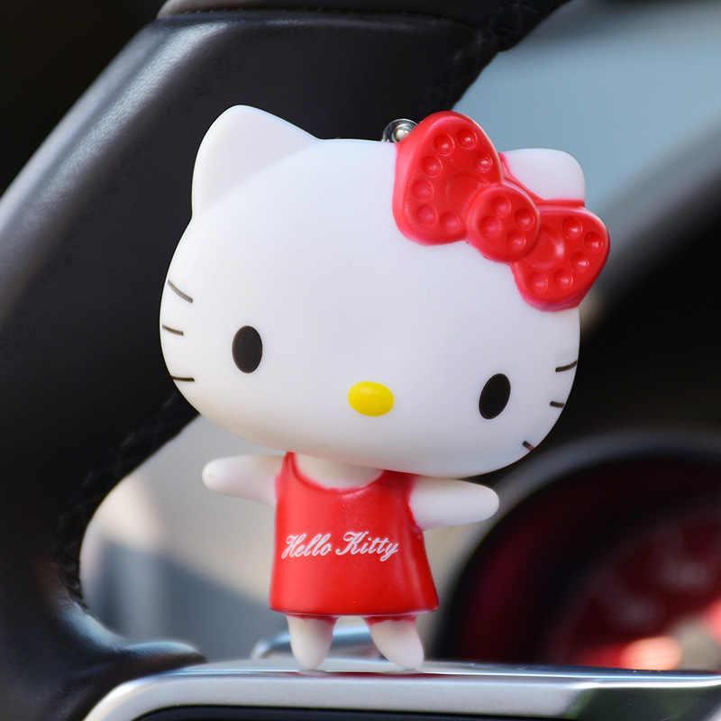 Sentado e Em Pé de bonito Dos Desenhos Animados KT Gato Boneca Olá Kitty Chaveiros Chave Anel Titular Sacos de Charme Diy Acessórios Brinquedos Chave cadeias