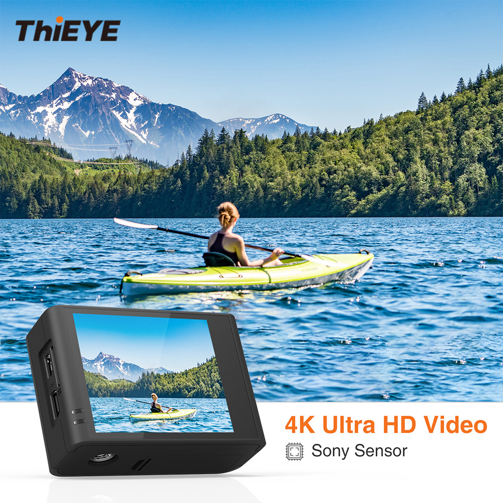 все цены на ThiEYE T3 WiFi UHD 4K Action Camera Can Charging in the Water Sports Camera with Gyro Stabilizer 60M Waterproof