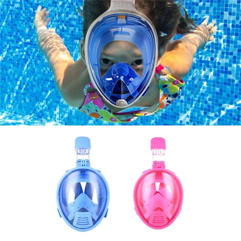 Kids Safe Plein Visage Masque de Plongée En Apnée Plongée Sports Nautiques Plongée Sous-Marine Natation Tuba Anti Brouillard Masque De Plongée Enfants