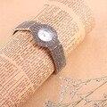 100% de Plata de ley 925 Thail Plata de Cuarzo Reloj de Señora de Lujo Reloj de Pulsera Mujer Reloj de Plata Reloj de la Mujer