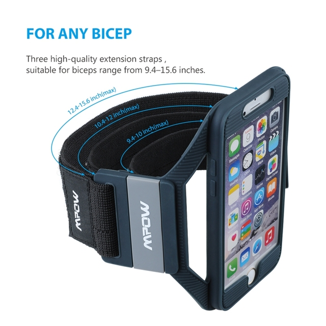 Mpow MSA5 for iPhone 7 6s 6 Armband Sports Running Workout Silicone Arm band Case Cover w/ Extension Straps for iPhone 7 6s 6