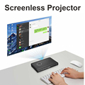 NIERBO Бизнес Портативный Мини СВЕТОДИОДНЫЙ Проектор Поддержка Windows 10 4 К с Аккумуляторная Батарея WI-FI Bluetooth HDMI USB 2700 Люмен