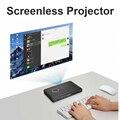 Nierbo negocios portable mini proyector led soporte para windows 10 4 k con batería recargable bluetooth wifi hdmi usb 2700 lúmenes