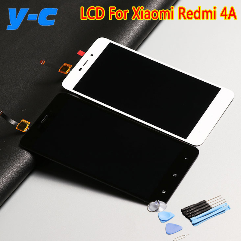Prix pour Pour Xiaomi Redmi 4A LCD Display + Tactile + Outil de Haute Qualité 100% Nouveau Digitizer Écran Tactile Panneau de Verre Pour Xiaomi Redmi 4A 5.0 pouces