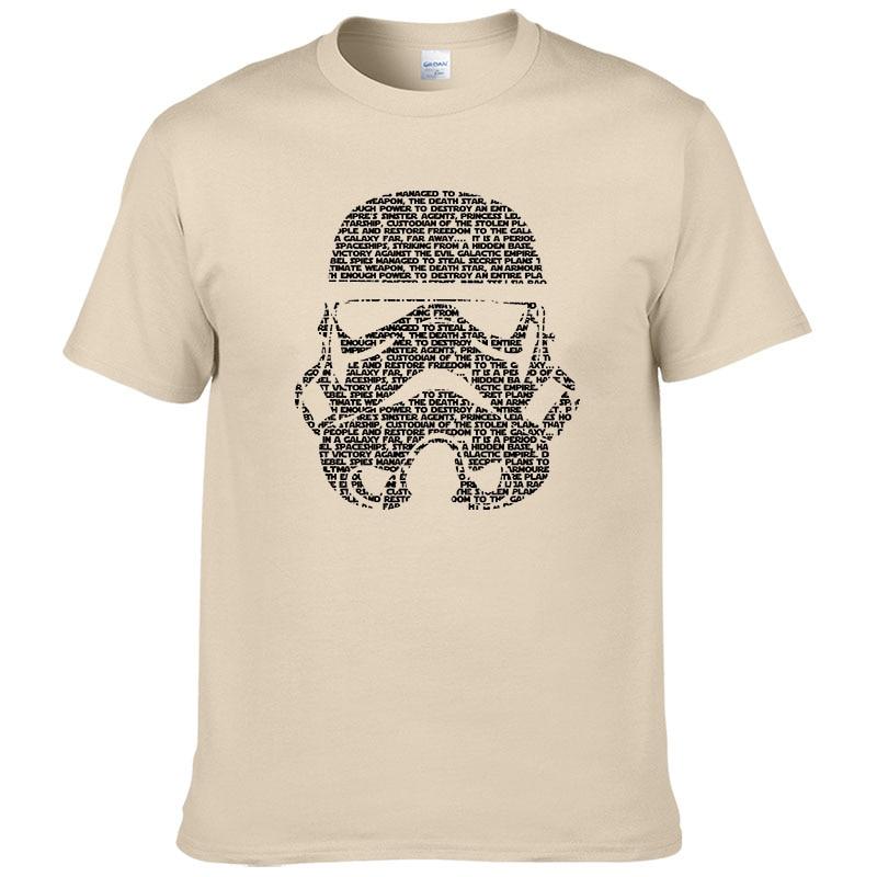 2017 Men T-Shirt Tropical Stormtrooper Shirts Star Wars t shirt Mens High Quality Cotton Printing Clothing #263