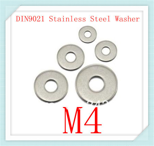 1000pcs  Stainless Steel DIN9021 M4  Flat   Washer   (M3-M20)