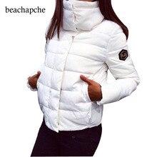 Зимняя куртка женские новые модные женские однотонные с высоким воротником толстые теплые пальто с хлопковой подкладкой куртки верхняя одежда