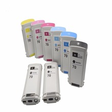 Ink Cartridge Compitable for HP70 Used for HP Z2100 Z3100 Z3200 Z5200 Printer 130ML * 8  (PK + LG + MK + C + LC + M + LM + Y) цена и фото