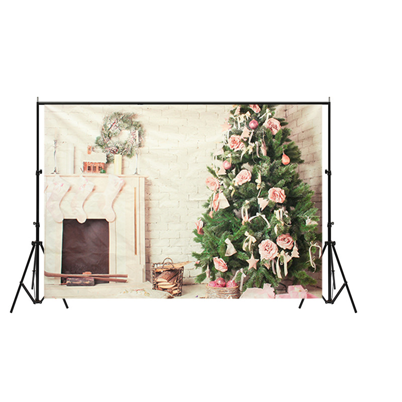 7x5ft Vinyl Photography Background Christmas Tree Fireplace photographic Backdrop for Studio Photo Prop 210X150cm waterproof 8x8ft black white stripes wall custom vinyl photography background studio photo prop photographic backdrop 2 4m x 2 4m