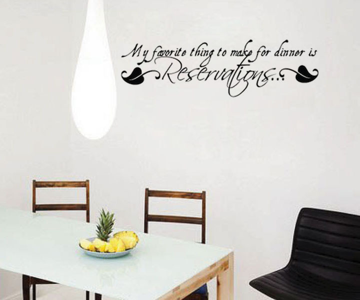 My Favorite Thing To Make For Dinner Wall Stickers For Kitchen Home Decor Diy Wallpaper Art