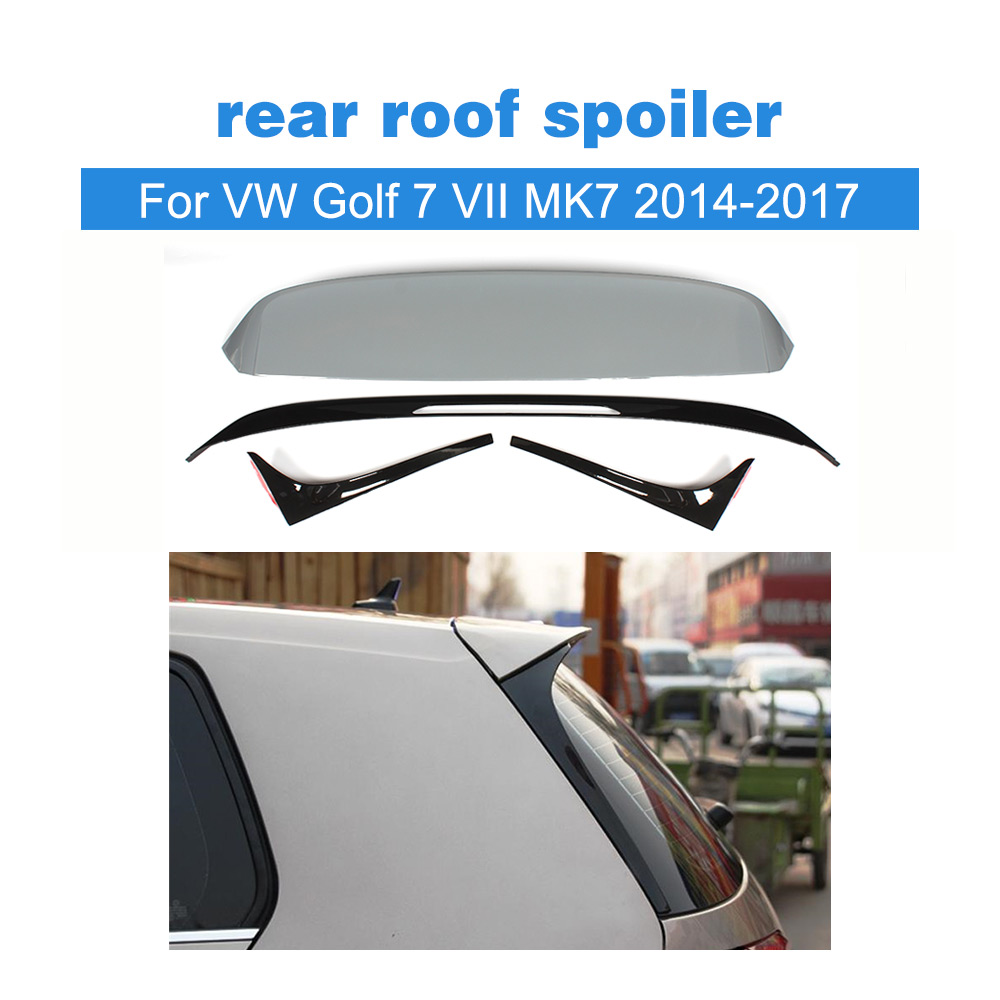 ABS Unpainted Rear Roof Spoiler Window Wing Lip for Volkswagen VW Golf 7 VII MK7 2014-2017 R Style Non For GTI R