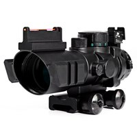 Hunting 4 X 32 Compact Rifle Scope Fiber Sight Red Dot Scope With Fiber Optic Sight