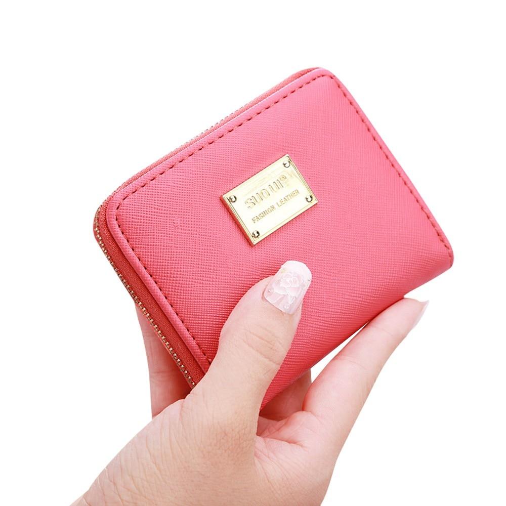 XINIU Women Leather Small Wallet Women Luxury Brand Mini Women Wallets Purses Female Short Coin Zipper Purse Credit Card Holder sakura sa 6008a orange page 4