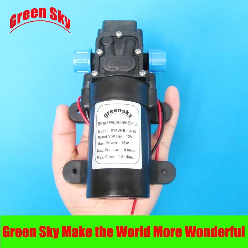 ФОТО DC 15W 12v 1.5L/min high pressure self priming mini electric water pump