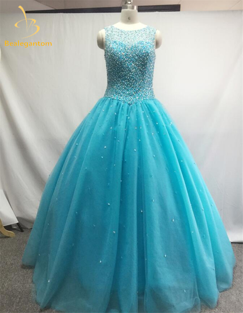 ₩Midnight Blue Quinceanera Dresses Ball Gown 2017 With Beaded Sequin ...