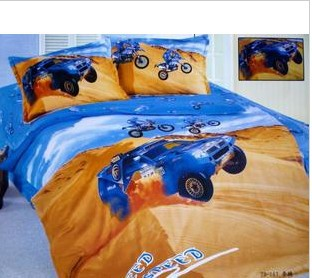 Racing Car Buggy Children Boy Kids Teen Bedding Set Twin Size Quilt Cover Bed  Sheet Bedlinen