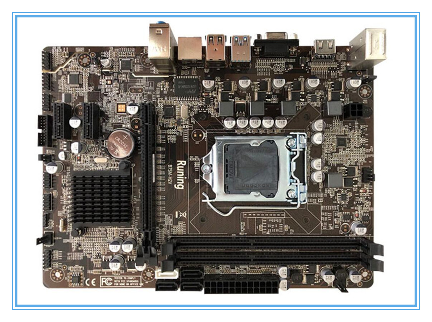 new Motherboard LGA 1155 B75 Desktop Computer Mainboard DDR3 for Intel B75 Desktop motherborad