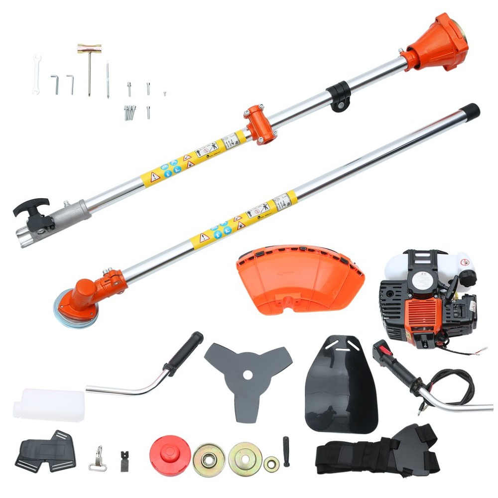 52cc Brushcutter Grass Trimmer Universal Chain Saw Hedge Trimmer With Shoulder Belt Double Heads Household Electric Machine Tool