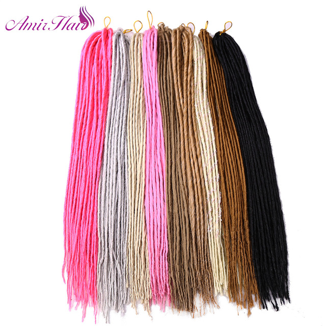 Amir Hair Synthetic Faux Locs With 22inch Black Blond White And Grey