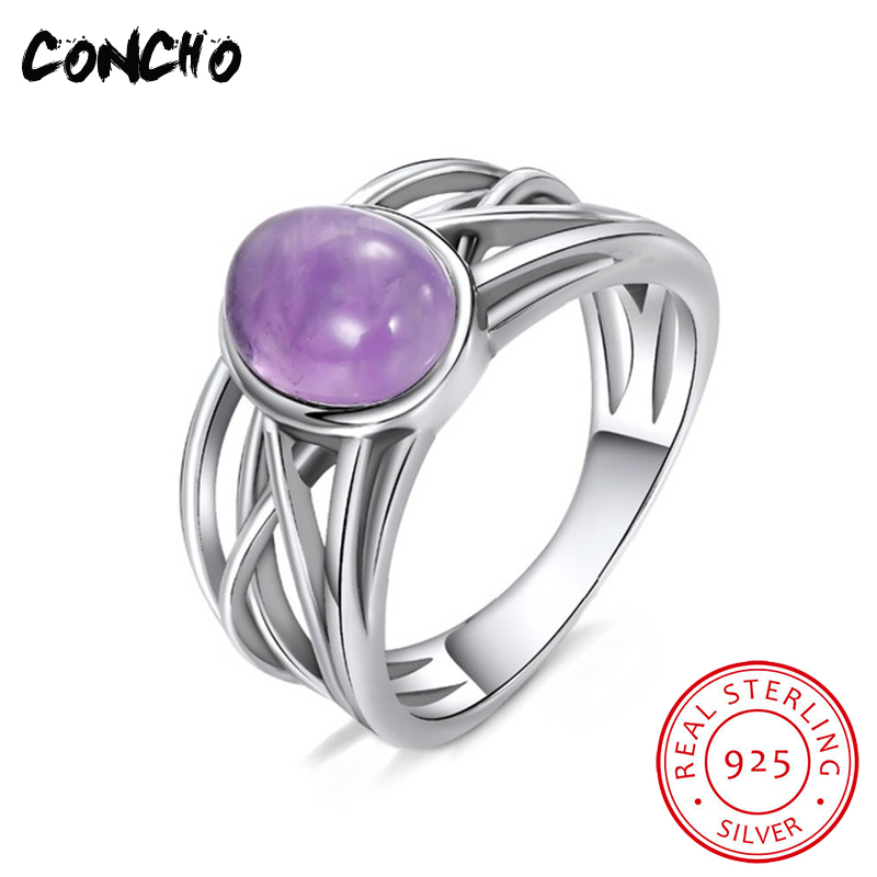 2018 Rushed New Trendy Bands Amethyst Party Tension Setting Anel Feminino Concho Jewelry 925 Sterling Geometric Rings For Women 2018 Rushed New Trendy Bands Amethyst Party Tension Setting Anel Feminino Concho Jewelry 925 Sterling Geometric Rings For Women