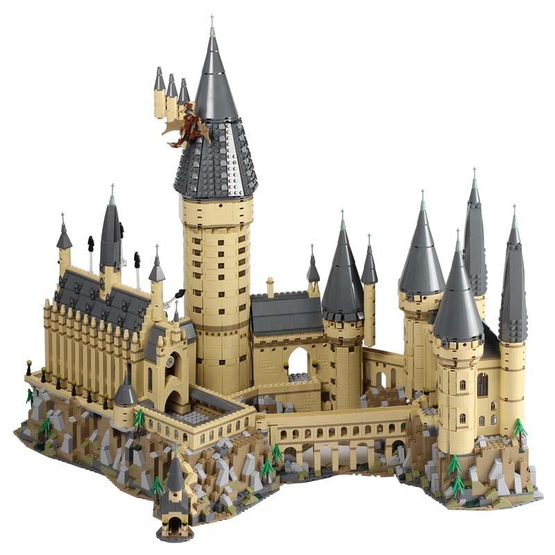 Гарри фильм Поттер серии 71043 Замок Хогвартс набор строительных блоков Кирпичи детей игрушки дом модель рождественские подарки