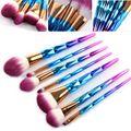 7 pcs Escovas da Composição Set Diamante íris lidar com Cosméticos Fundação Eyshadow Blending Pincel de Blush Em Pó beleza ferramentas kits