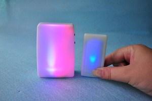 Image 4 - XINSILU Nuovo prodotto di casa intelligente campanello della porta, a distanza senza fili musica flash Colorato campanello per non udenti (1 trasmettitore + 2 ricevitori)