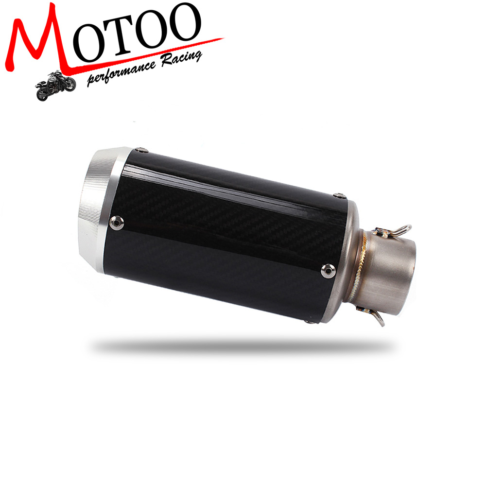 Motoo - High performance motorcycle carbon fiber slip-on exhaust muffler For Scooter Motorcycle ATV Dirt Bike